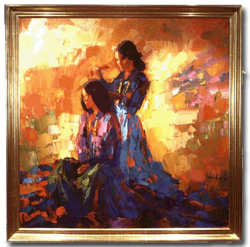 """Navaho Girls"" - Nicola Simbari - Southwest Collection"