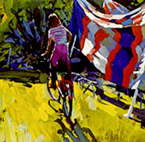 Nicola Simbari - 'Boy on a Bicycle'